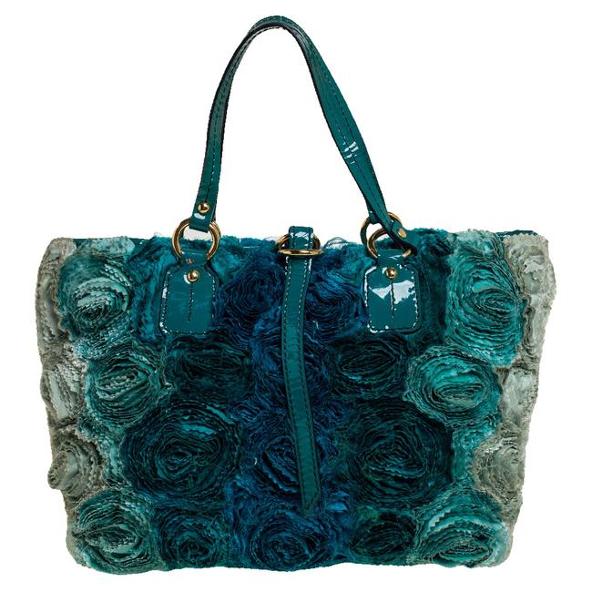 Item - Organza and Patent Leather Rosier Tote