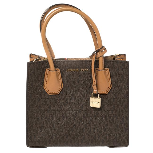 Item - Mercer Two Brown Signature Coated Canvas and Leather Mini Tote