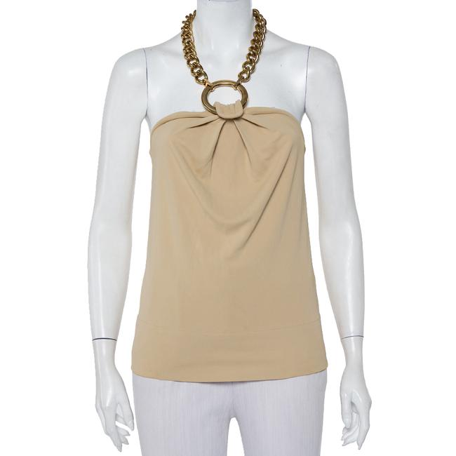 Item - Jersey Dolce & Gabbana Beige Chunky Chain Halter Neck Cami Top M Blouse