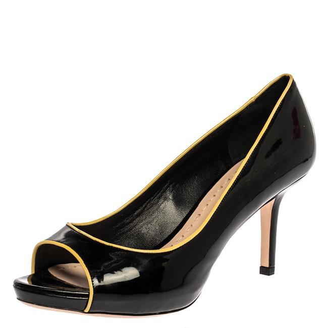 Item - Black/Yellow Patent Leather Open Size 39 Pumps