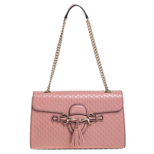 Gucci Emily Chain Pink Microguccissima Leather Medium Shoulder Bag Gucci Emily Chain Pink Microguccissima Leather Medium Shoulder Bag Image 1