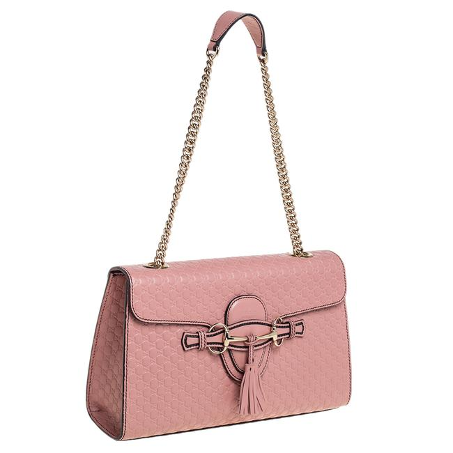 Gucci Emily Chain Pink Microguccissima Leather Medium Shoulder Bag Gucci Emily Chain Pink Microguccissima Leather Medium Shoulder Bag Image 3