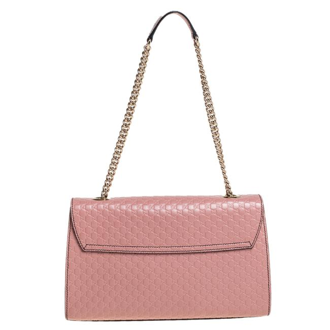 Gucci Emily Chain Pink Microguccissima Leather Medium Shoulder Bag Gucci Emily Chain Pink Microguccissima Leather Medium Shoulder Bag Image 4