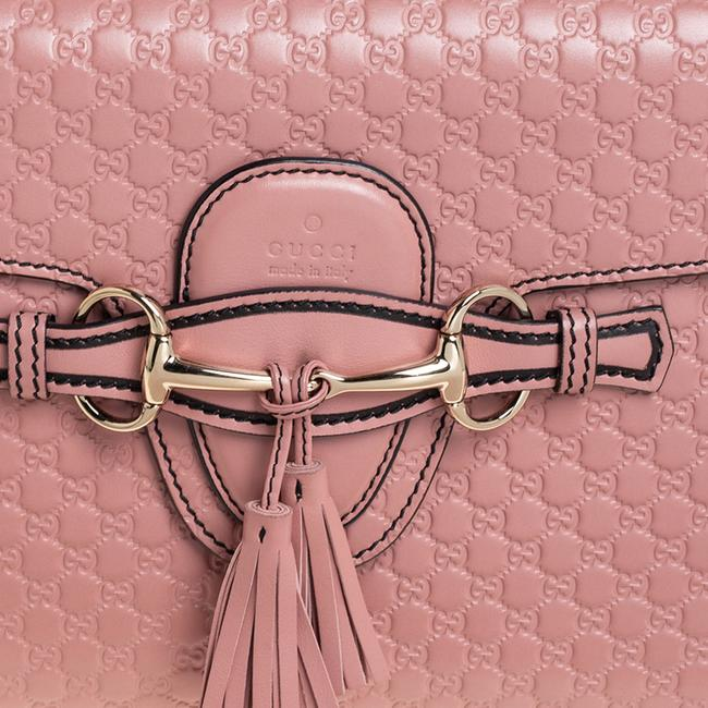 Gucci Emily Chain Pink Microguccissima Leather Medium Shoulder Bag Gucci Emily Chain Pink Microguccissima Leather Medium Shoulder Bag Image 5