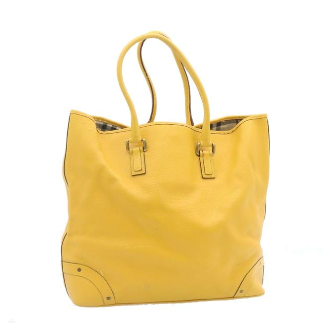 Item - Bag Leather Yellow Tote