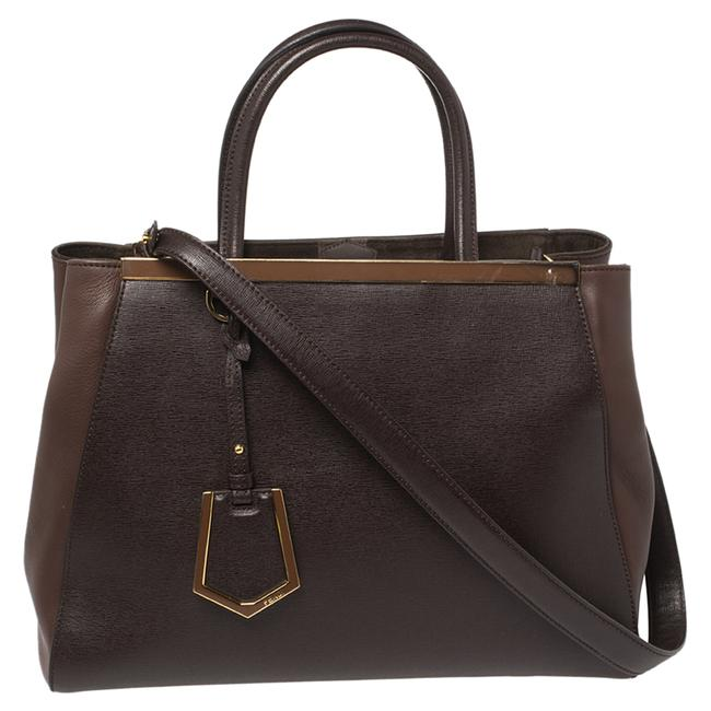 Item - Two Brown Leather Medium 2jours Tote