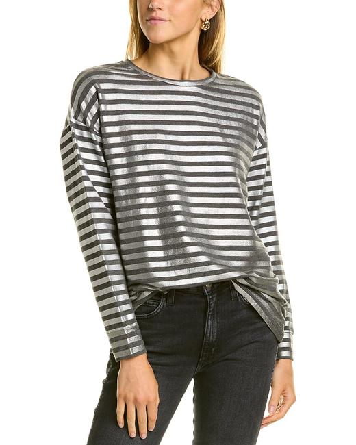 Item - Relaxed Metallic Stripe M216fts534 Sweater/Pullover