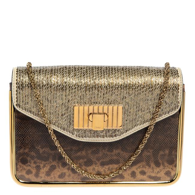 Item - Sally Brown Karung Sequins and Leather Small Shoulder Bag