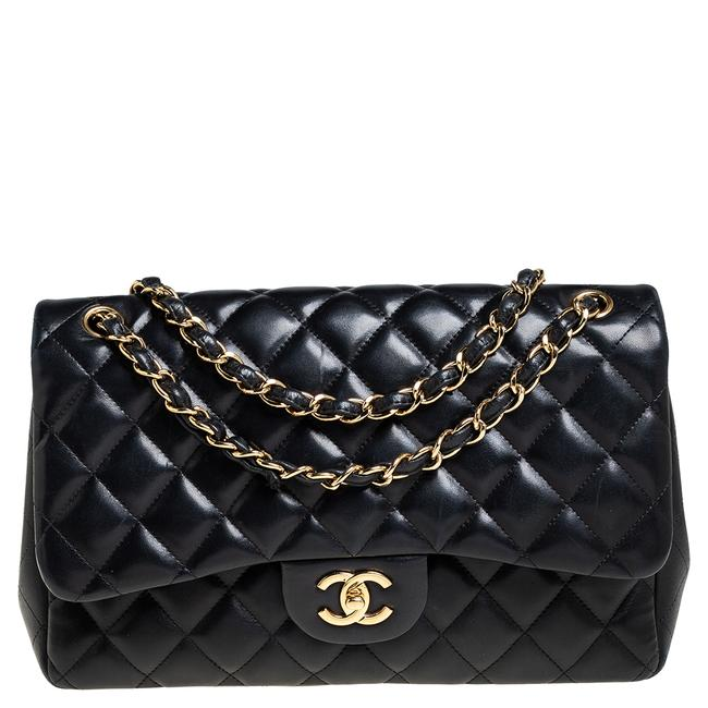 Item - Classic Flap Quilted Leather Jumbo Classic Double Shoulder Bag