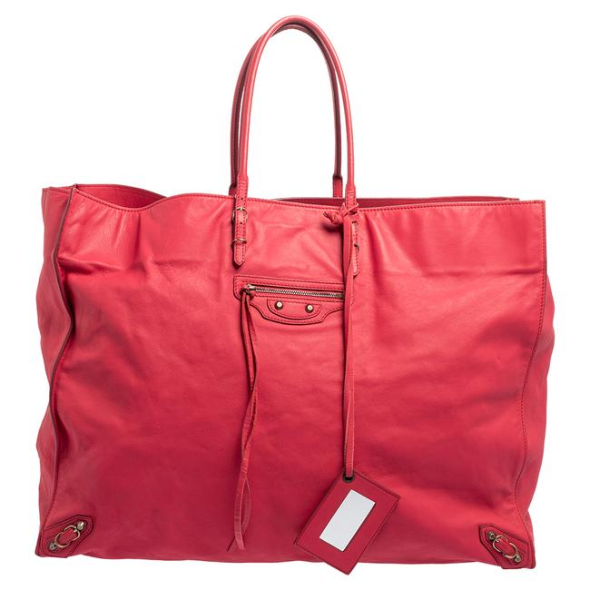Item - Pink Leather Papier A4 Tote