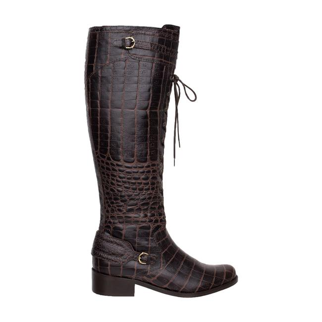 Item - Croc Embossed Leather -pre Owned Condition Excellent 36 Boots/Booties