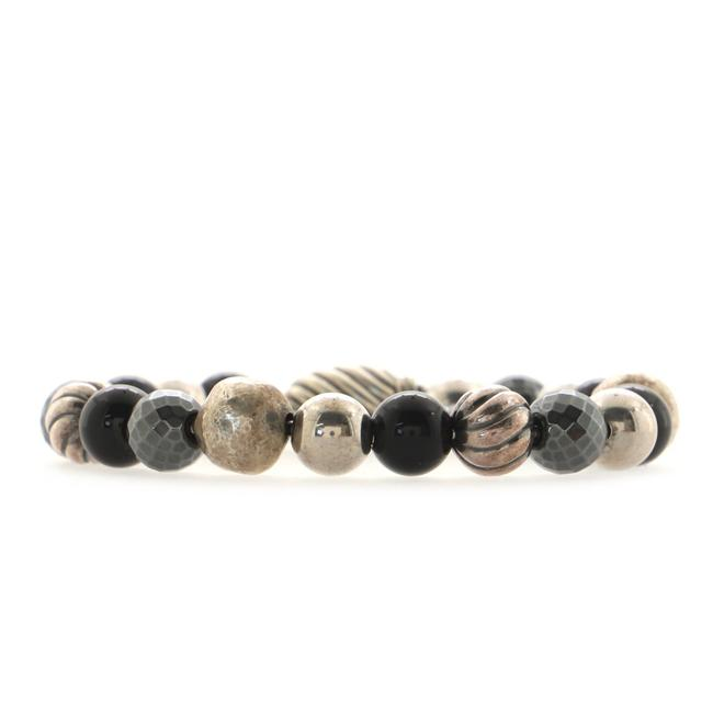 Item - Elements Bead Bracelet Sterling Silver with Onyx and Hematite 8mm Jewelry