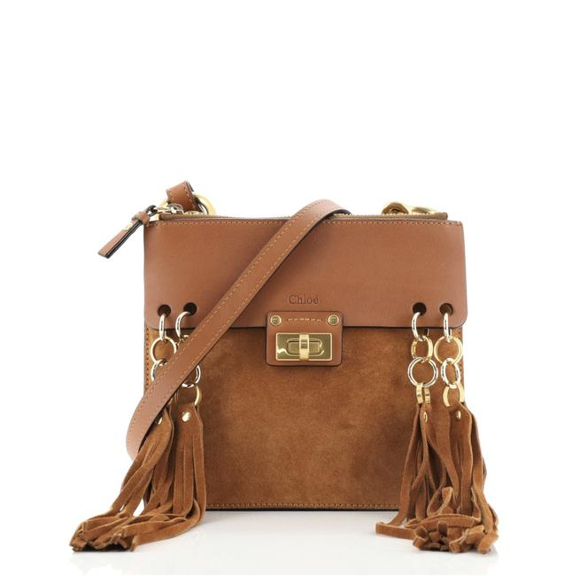 Item - Jane Leather and Suede Small Cross Body Bag