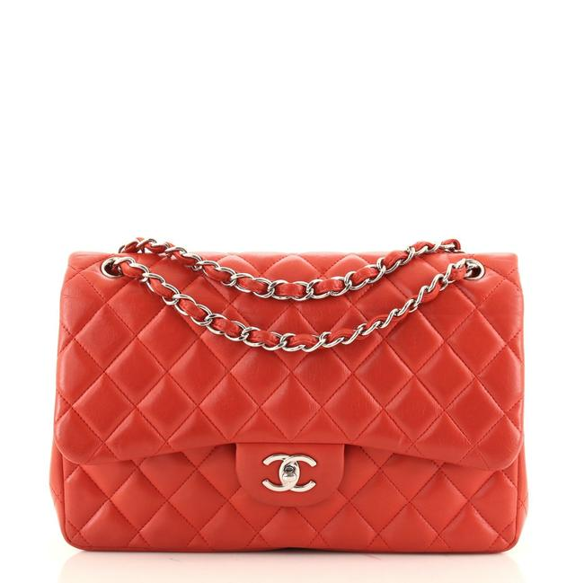 Item - Classic Double Flap Quilted Lambskin Jumbo Shoulder Bag