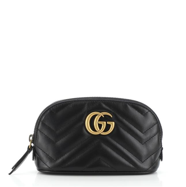 Item - Gg Marmont Pouch Matelasse Leather Cosmetic Bag