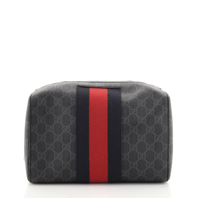 Item - Web Toiletry Pouch Gg Coated Canvas Cosmetic Bag