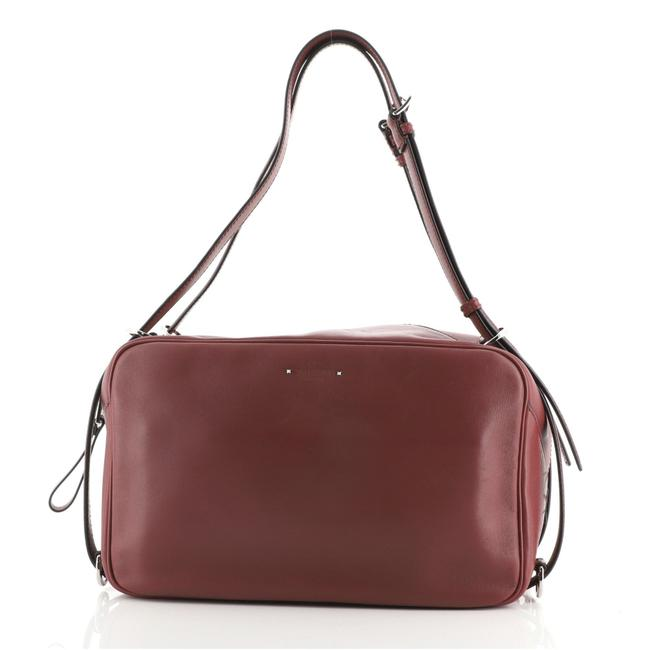 Item - Belted Handle Bowling Leather Weekend/Travel Bag