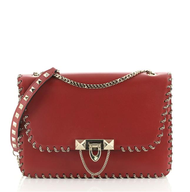 Item - Demilune Chain Whipstitch Leather Small Shoulder Bag
