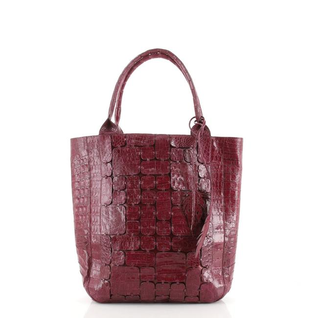 Item - Feather Tote Crocodile Tall Shoulder Bag