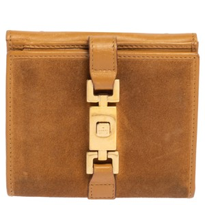 Gucci Jackie Beige Suede and Leather Wallet