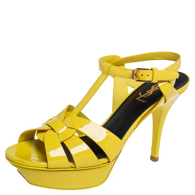 Item - Tribute Yellow Patent Leather Size 38 Sandals