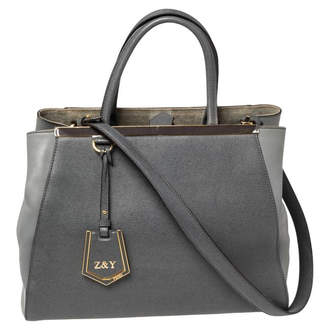 Item - Two Grey Leather Medium 2jours Tote