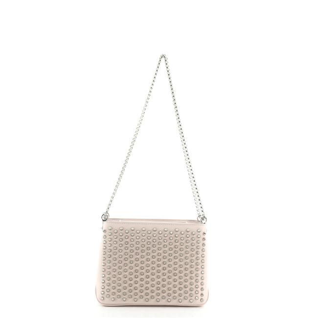 Item - Triloubi Chain Spiked Leather Small Cross Body Bag