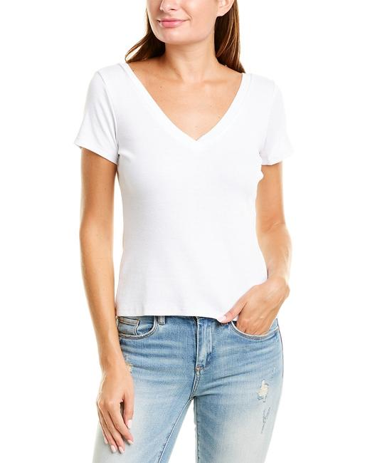 Chaser Double V Double V-neck Top Cw8133-wht Blouse 14110603270001 Image 1
