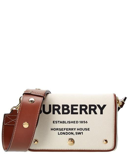 Item - Small Horseferry Print Canvas & Leather 8026608 Cross Body Bag