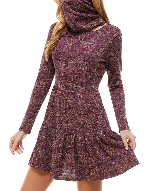 Item - XS Red Wine Size Junior Paisley Tiered Face Mask Scarf Formal Dress