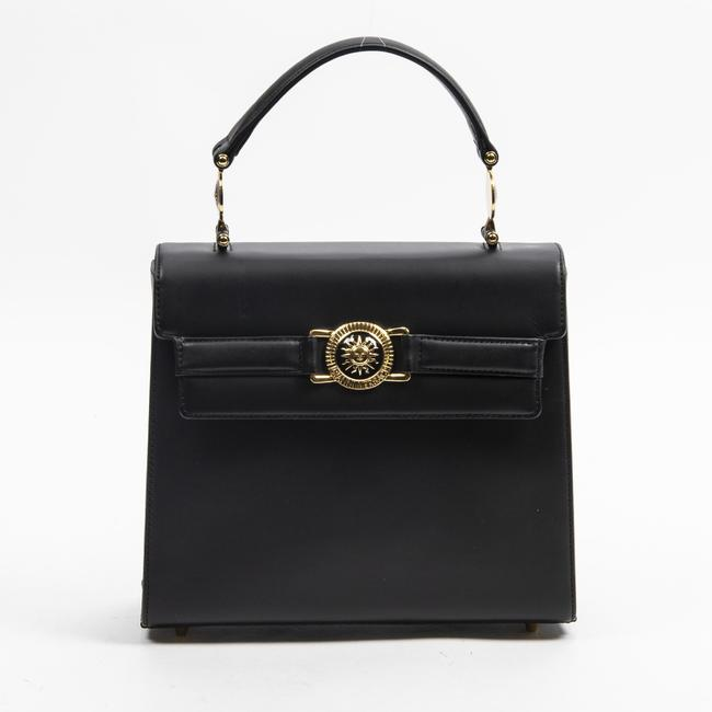 Item - Flap Bag Top Handle Square Black In Smooth Leather Tote