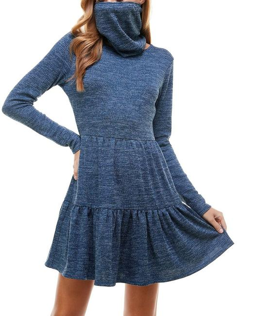 Item - Navy Blue Size Small S Junior A-line Tiered Sweater Formal Dress