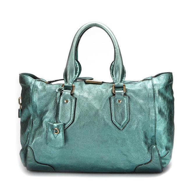 Item - Bag Metallic Leather -pre Owned Condition Very Tote