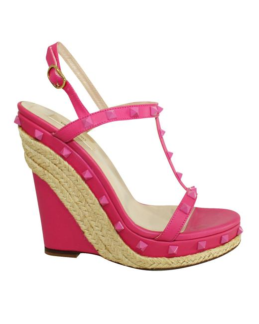 Item - Pink Studded Espadrille -pre Owned Condition Wedges