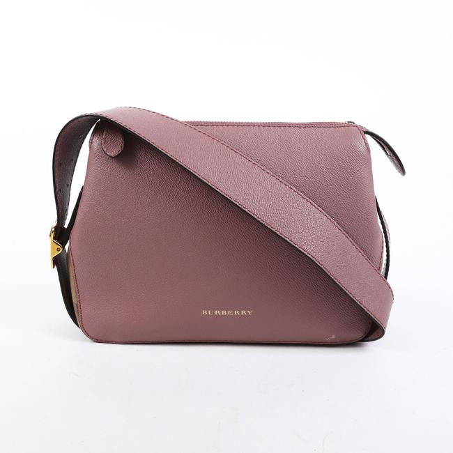 Item - Helmsley Small Pink Leather House Check Shoulder Bag