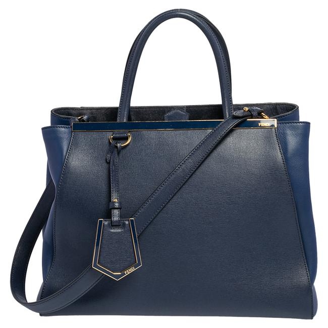Item - Two Blue Leather Medium 2jours Tote