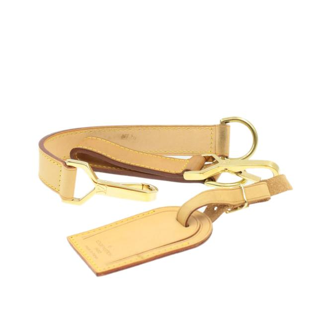 Item - Leather Beige Name Tag Accessory