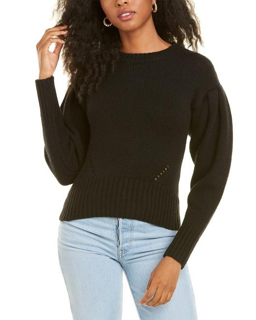Item - Cropped Puff Sleeve Wool-blend Rh12151 Sweater/Pullover