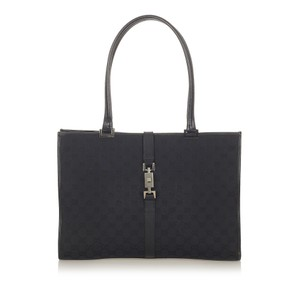 Gucci Jackie Bag Gg Canvas New Tote