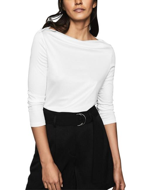 Item - Marilyn Jersey Straight Neck Top 45302700 Blouse