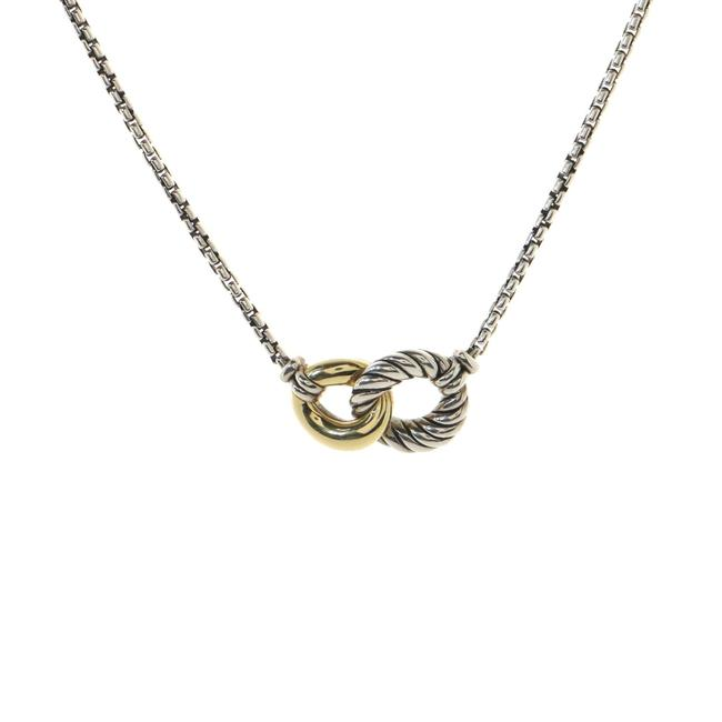 Item - Belmont Curb Link Pendant Necklace Sterling Silver and 18k Yellow Gold Jewelry