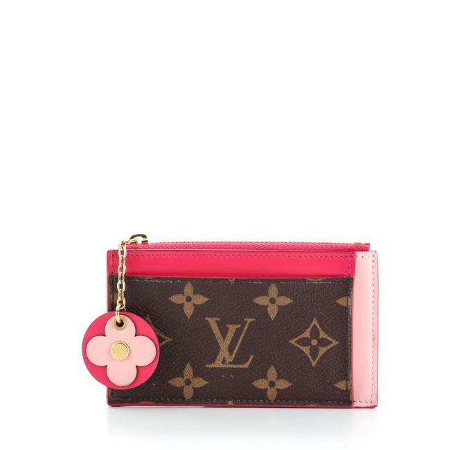 Item - Zipped Card Holder Nm Limited Edition Blooming Flowers Monogram Canvas and Leather Wallet