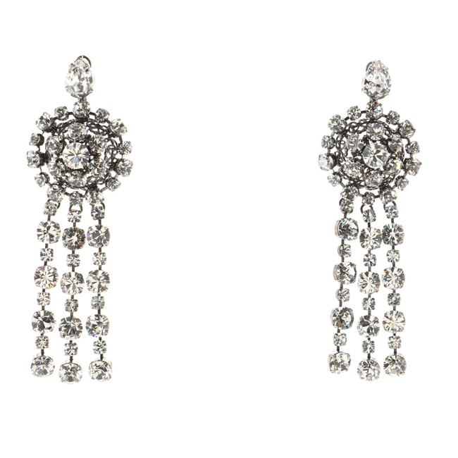 Item - Triple Drop Earrings Metal with Crystals Xl Jewelry