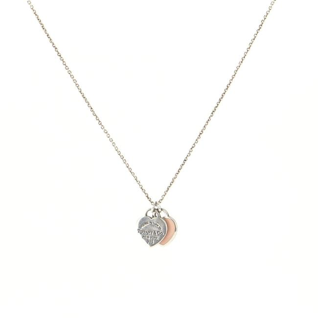 Item - Return To Double Heart Tag Pendant Necklace Sterling Silver with Enamel Small Jewelry