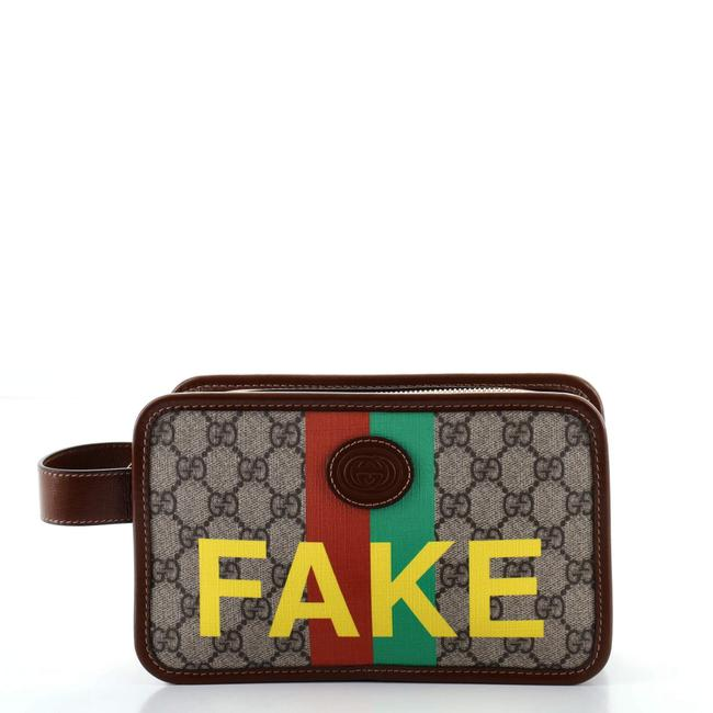 Item - Fake/Not Fake/Not Printed Gg Coated Canvas Cosmetic Bag