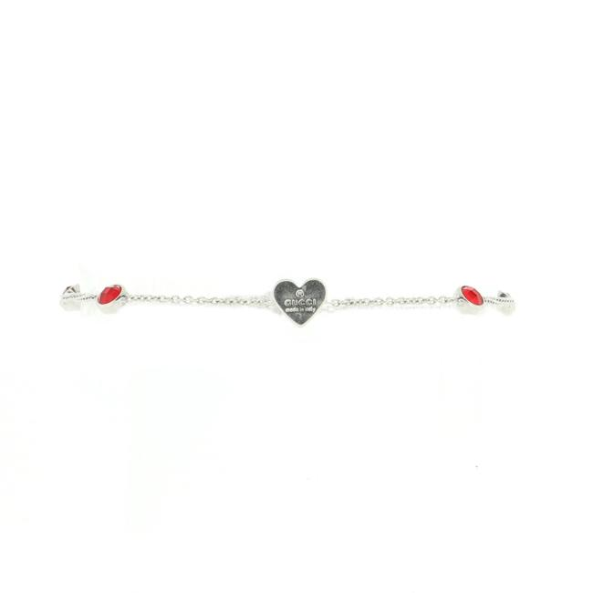 Item - Heart and Crystal Chain Bracelet Metal and Crystal Jewelry