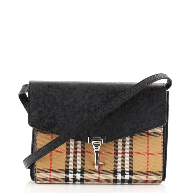 Item - Macken Leather and Vintage Check Canvas Small Cross Body Bag