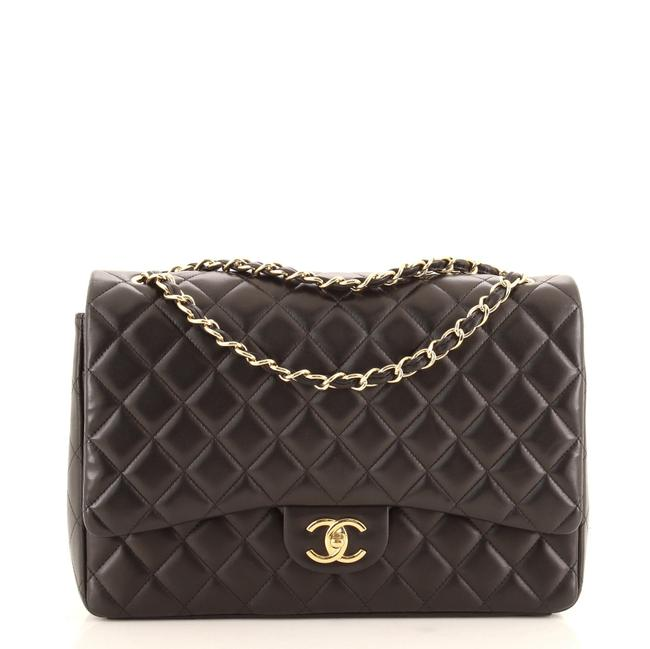 Item - Classic Double Flap Quilted Lambskin Maxi Shoulder Bag