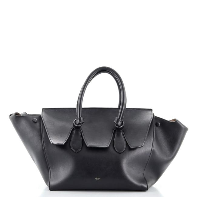 Item - Tie Knot Tote Smooth Leather Small Satchel