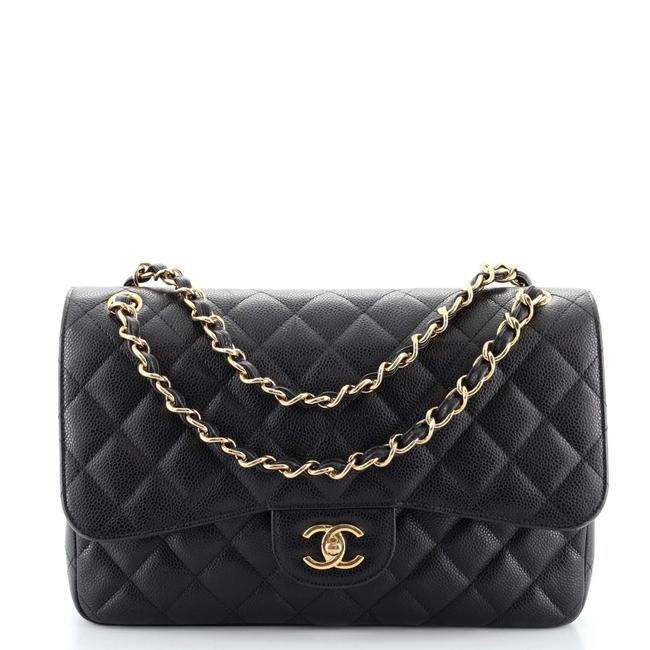 Item - Classic Double Flap Quilted Caviar Jumbo Shoulder Bag